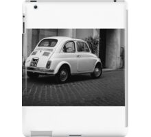 Vintage Fiat 500 Rome Italy Black and White iPad Case/Skin