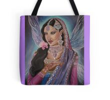 Indian bridal fairy faerie fantasy pink purple art Tote Bag