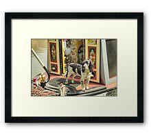Boat Dog - Springer Spaniel Framed Print