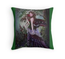 Mediaval forest lady fairy tote bag Throw Pillow