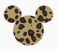 Mouse Leopard Patterned Silhouette Kids Tee