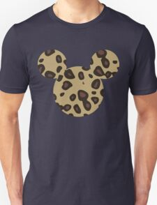 Mouse Leopard Patterned Silhouette Unisex T-Shirt