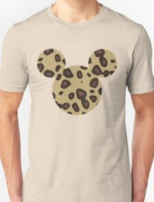 Mouse Leopard Patterned Silhouette T-Shirt