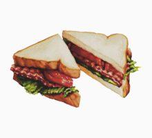 BLT Sandwich Pattern Kids Tee