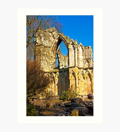 Ruins of St Mary's Abbey  -  York #2 Art Print