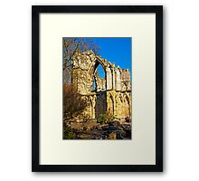 Ruins of St Mary's Abbey  -  York #2 Framed Print