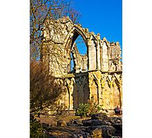 Ruins of St Mary's Abbey  -  York #2 Photographic Print