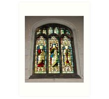 Window #1 - St Olave's Church - York. Art Print