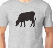 Grazing cow, black silhouette Unisex T-Shirt