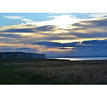 Sunset over Bempton cliffs Photographic Print