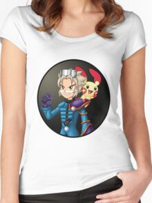 Pokemon Colosseum - Wes and Plusle Women's Fitted Scoop T-Shirt