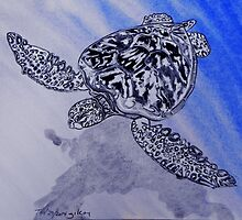 Sea Turtle art by whiteygilroy