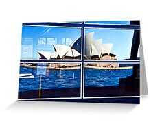 A Reflection on Sydney Opera House - Australia Greeting Card