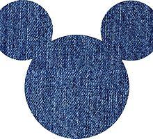 Denim Mickey/Minnie head logo by nemofish