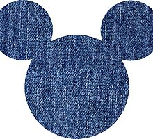 Mouse Denim Patterned Silhouette by nemofish