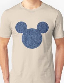 Mouse Denim Patterned Silhouette T-Shirt