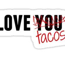 Love tacos, Sticker