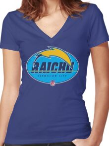 Vermilion City Raichu Women's Fitted V-Neck T-Shirt