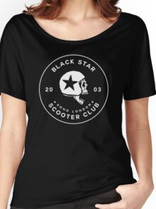 BLACK STAR SCOOTER CLUB  Women's Relaxed Fit T-Shirt
