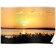Sunset over the Coorong Poster