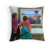 Figurative Art Museum - Colorful Layers Throw Pillow