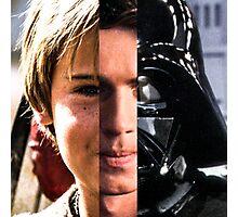 STAR WARS: Anakin Skywalker Evolution (Darth Vader Evolution) Photographic Print