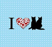 I heart cats  by gretzky