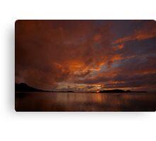 Sunrise in Bora Bora Canvas Print
