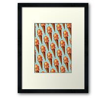 Strawberry Double Scoop Pattern Framed Print