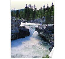 Elbow Falls, Alberta, Canada Poster
