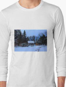 English Gardens (Winter View) Long Sleeve T-Shirt