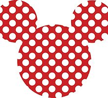 Polka dot Minnie/Mickey Mouse Silhouette by nemofish