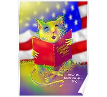 'Let Us Remember' George the Singing Mouse Poster
