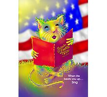 'Let Us Remember' George the Singing Mouse Photographic Print