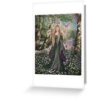 Hannah Titania,on a Midsummer's Eve fairy faerie,fantasy Greeting Card