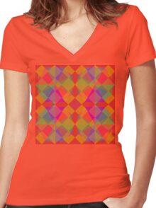 Shine Bright Like A Diamond Women's Fitted V-Neck T-Shirt