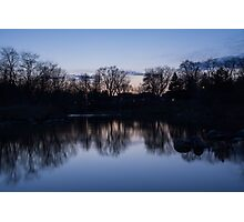 Lake Ontario Blue Hour Infused With Purple Photographic Print