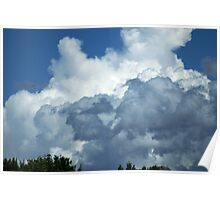 Clouds over Eastern Washington Poster