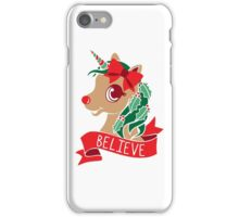 Believe - Unicorn Rudolph iPhone Case/Skin