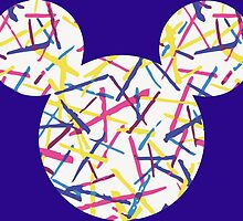 Mickey Mouse Silhouette Patterned by nemofish