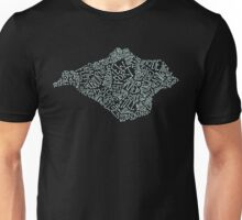 Hand drawn Isle of Wight map - duck egg blue Unisex T-Shirt