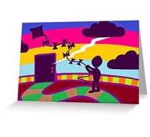 Dreams, Dreams those ephemeral Dreams. Greeting Card