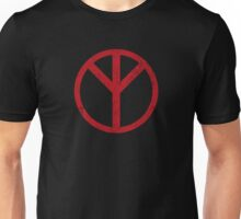 Premonition Reverse Peace Sign, Distressed Unisex T-Shirt