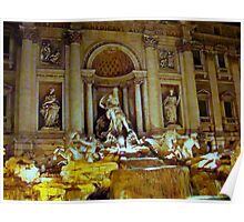 Trevi Fountain, Rome, Italy Poster