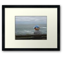 A Quiet Moment By the Sea  Framed Print