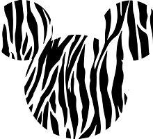 Mouse Zebra Patterned Silhouette by nemofish