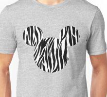 Mouse Zebra Patterned Silhouette Unisex T-Shirt
