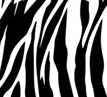 Mouse Zebra Patterned Silhouette Sticker