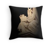 Angry Moses, Rome, Italy Throw Pillow