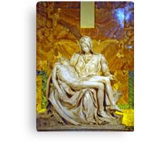 La Pieta, St. Peter's Basilica, The Vatican  Canvas Print